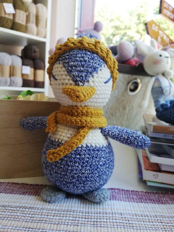 crochet-penguin-toy-blue-front