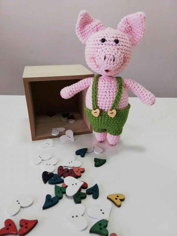Piggy Hand Knitted Amigurumi Toy - 02.