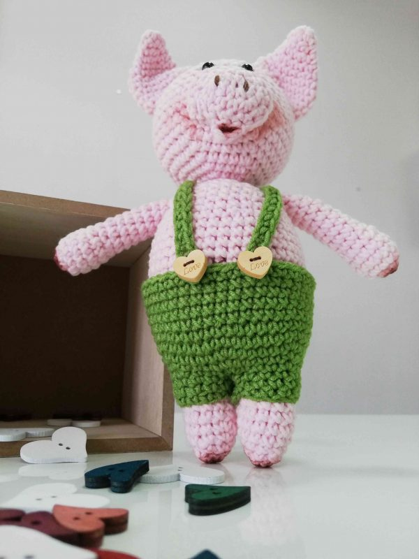 Piggy Hand Knitted Amigurumi Toy - 03