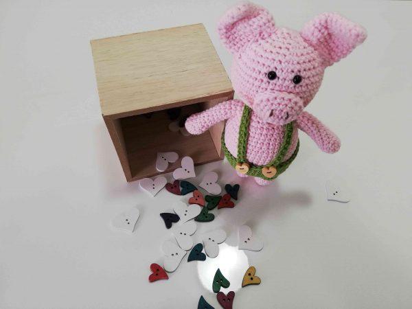 Piggy Hand Knitted Amigurumi Toy - 04
