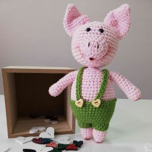 Mr. Piggy Crochet Amigurumi Toy
