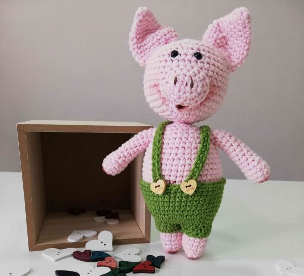 Piggy Hand Knitted Amigurumi Toy - 05