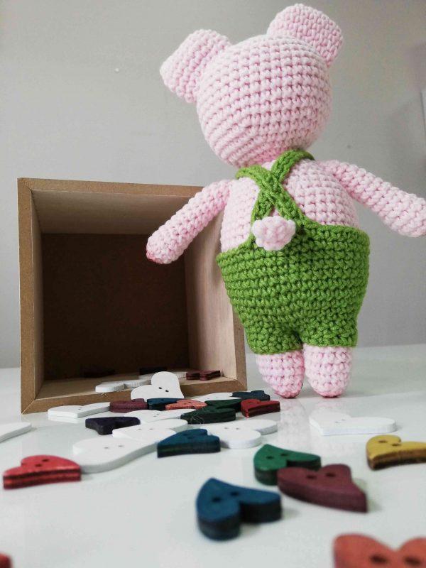 Piggy Hand Knitted Amigurumi Toy - 07