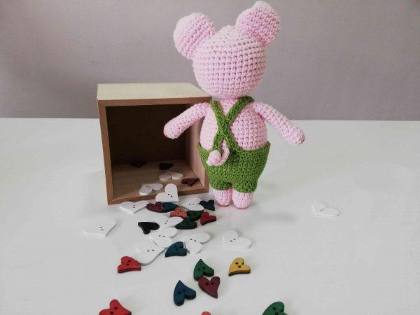 Piggy Hand Knitted Amigurumi Toy - 09