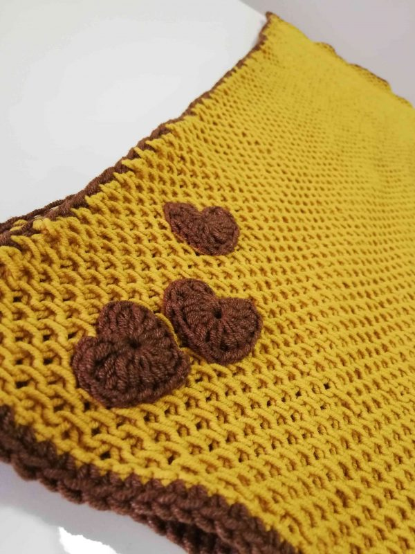 Soft Baby Blanket - Mustard Colour -02