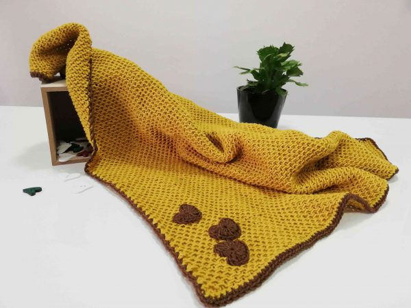 Soft Baby Blanket - Mustard Colour