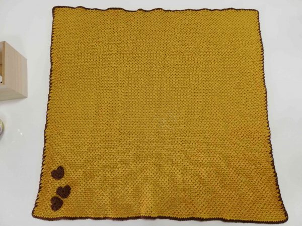 Soft Baby Blanket - Mustard Colour -04