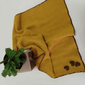 Soft Baby Balnket in Mustard Colour