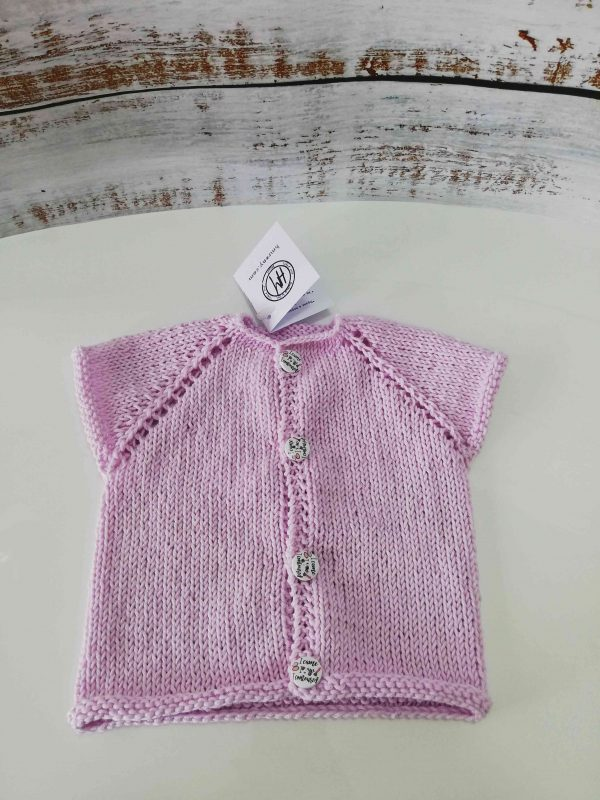 Baby Set in pink and yellow - Vest 02