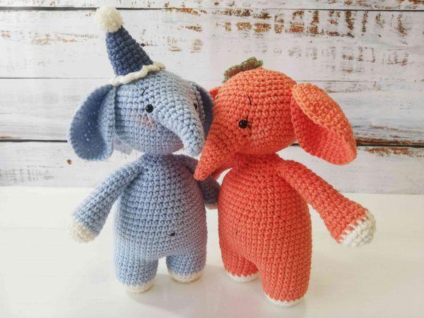Elephants Hand Knitted Plushy Toys