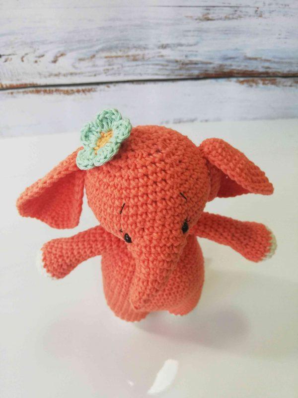 Elephants plushy toys orange