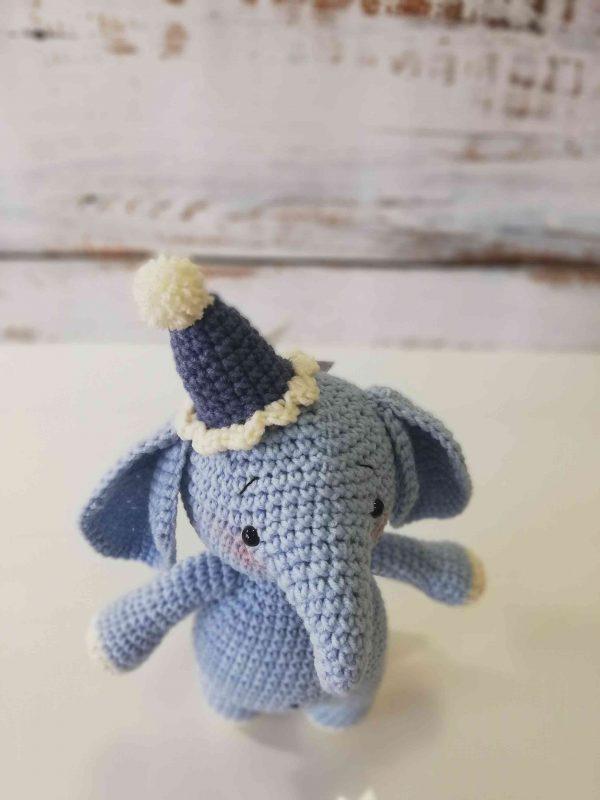 Elephants Plushy Toys-blue