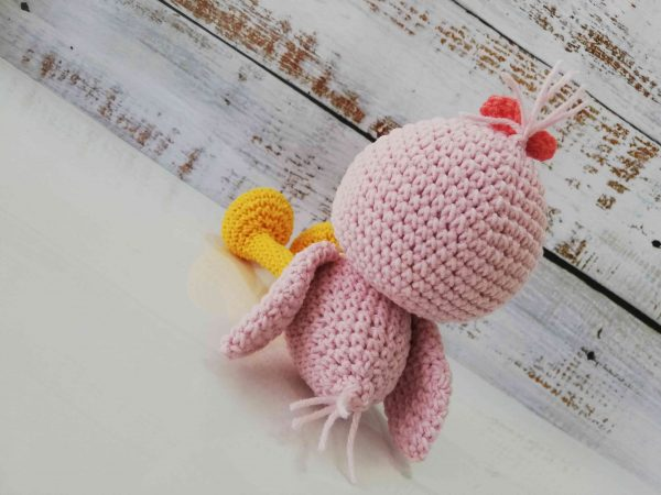 Cute Crochet Plushy Ducks in different colors Pink Back