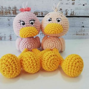Cute Crochet Plushy Ducks in different colors
