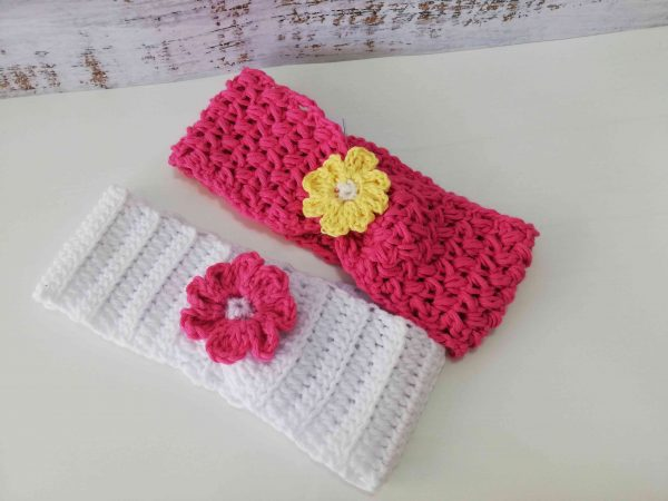 Crochet Headbands with Flowers 01