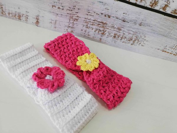 Crochet Headbands with Flowers