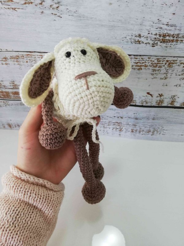 Crochet Amigurumi Sheep - Light Brown Color