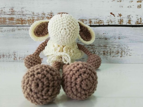 Crochet Amigurumi Sheep - Light Brown Color 04