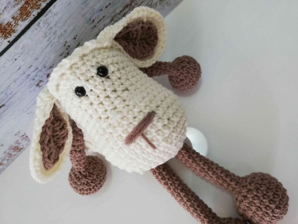 Crochet Amigurumi Sheep - Light Brown Color 05