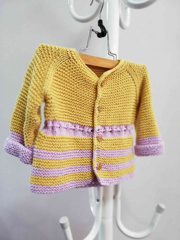 Fresh Hand Knit Girl Vest with Ribbon 02