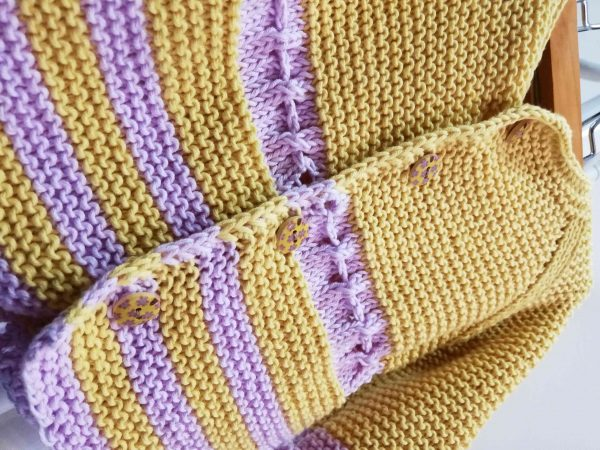 Fresh Hand Knit Girl Vest with Ribbon 04