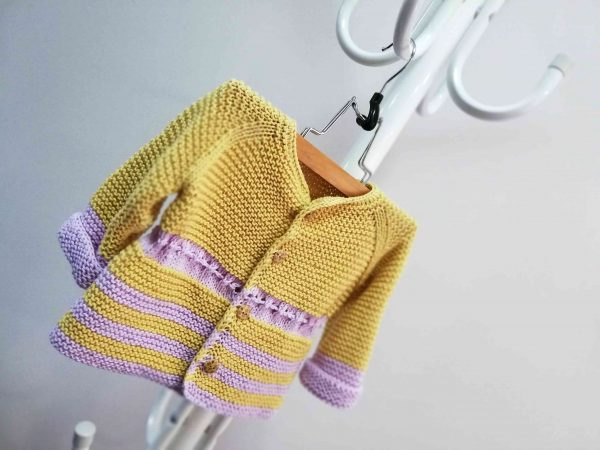 Fresh Hand Knit Girl Vest with Ribbon 06