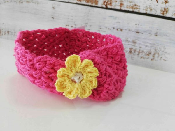 Crochet Headbands with Flowers - red 01