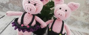 Crochet Pigs bring joy and luck in 2019 ( Chinese year of the Pig)