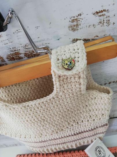 Crochet Baby Set in Beige and orange 03