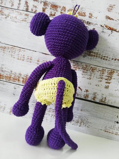 Crochet Amigurumi Monkey - Purple 06