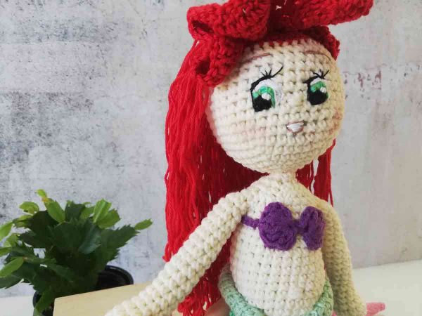 Crochet Doll Ariel The Little Mermaid 10