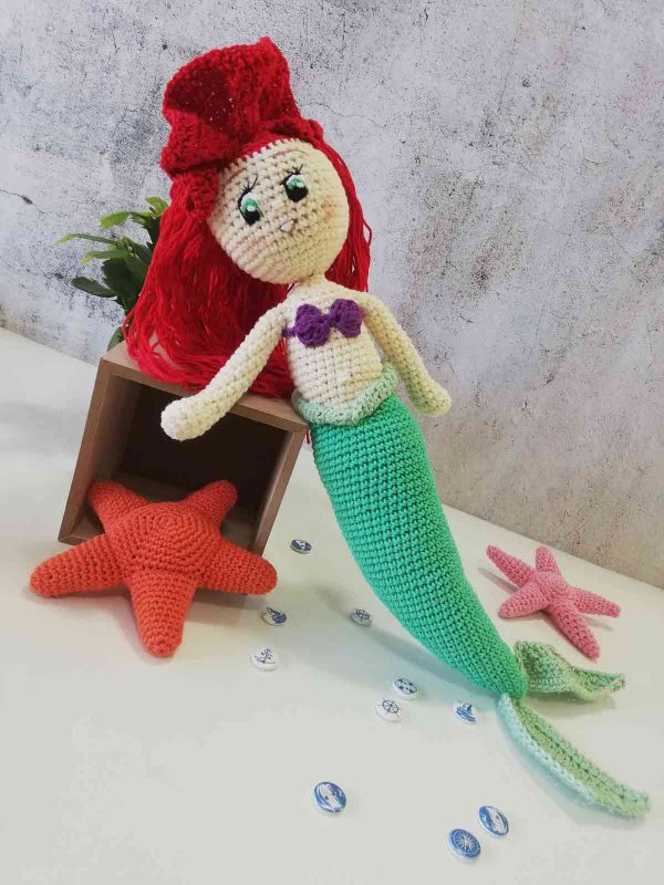 Crochet Doll Ariel The Little Mermaid 11