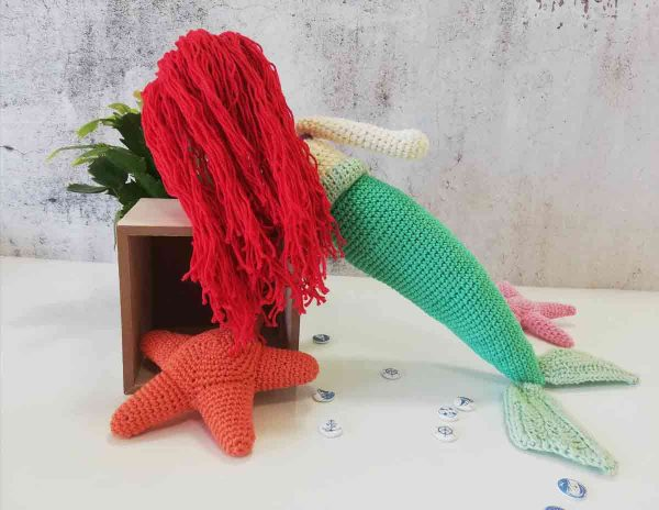 Crochet Doll Ariel The Little Mermaid 03