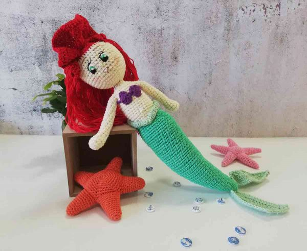 Crochet Doll Ariel The Little Mermaid 04