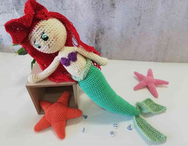 Crochet Doll Ariel The Little Mermaid 05