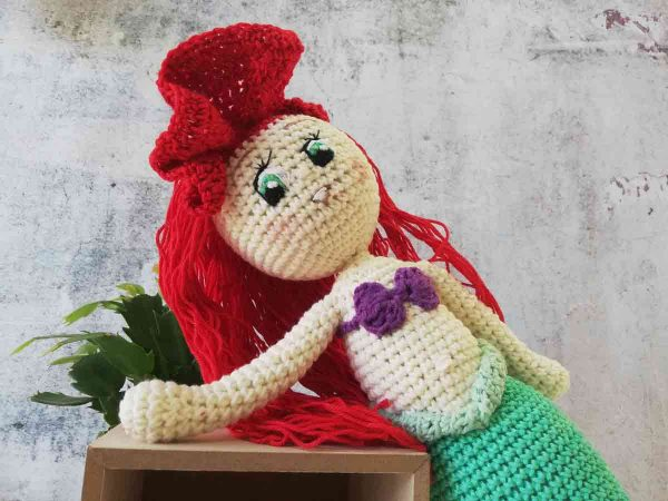 Crochet Doll Ariel The Little Mermaid 08