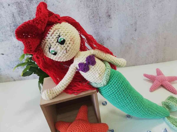 Crochet Doll Ariel The Little Mermaid 09
