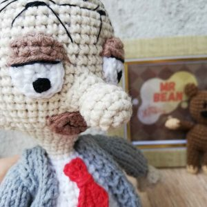 Crochet amigurumi toy Mr. Bean