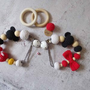Pacifier clips Mickey or Minnie
