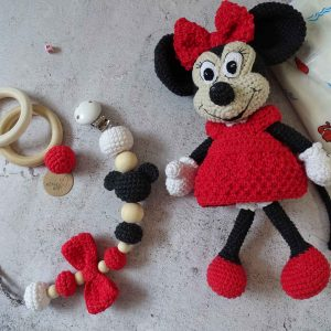 Minnie and pacifier clips set