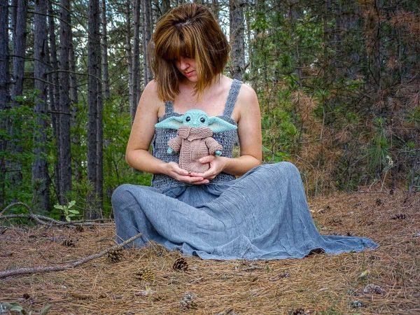 hugs with baby yoda