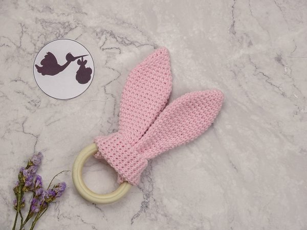 baby teether inpink color