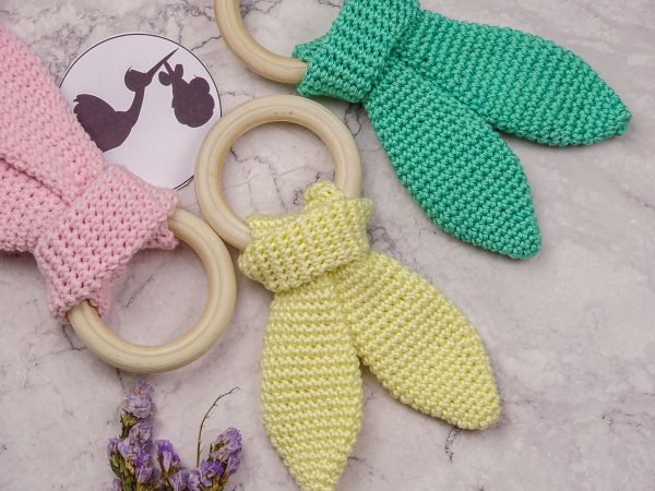 baby teethers in different colors