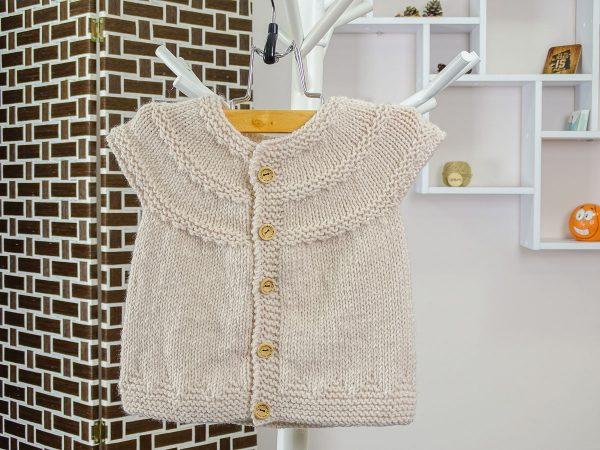 baby vest in beige front