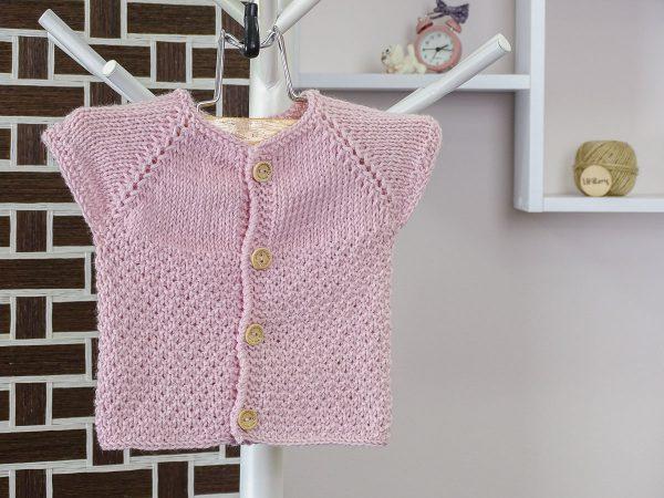 baby vest in purple front