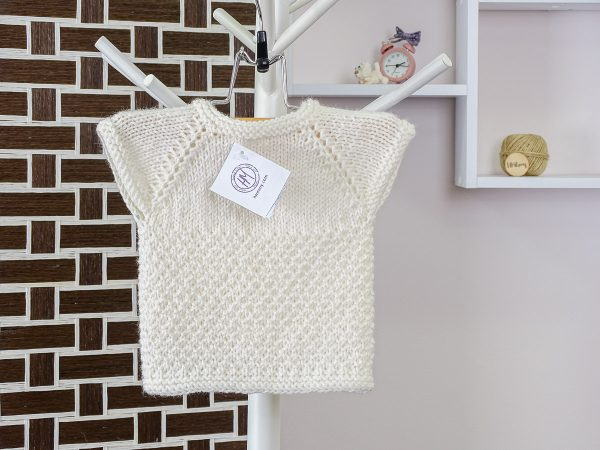 baby vest in white back