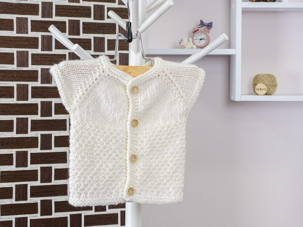 baby vest in white front