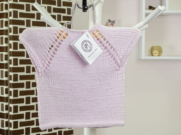 newborn baby vest in purple back