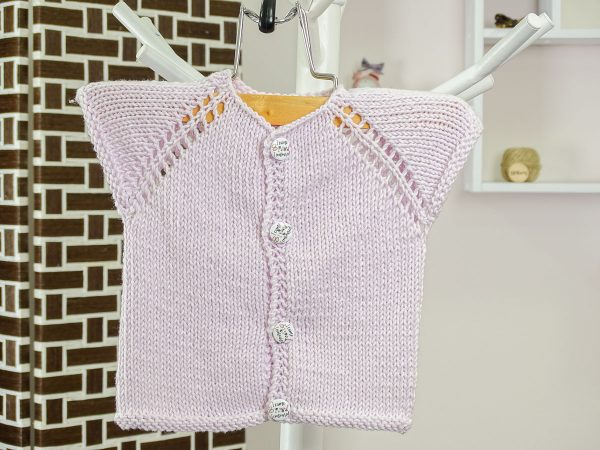 newborn baby vest in purple front