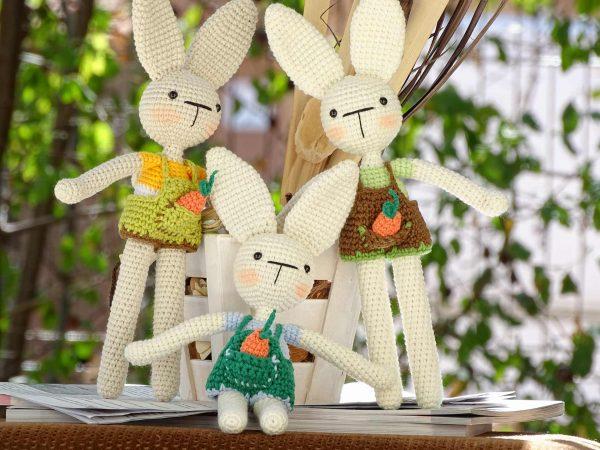 three-funny-bunnies